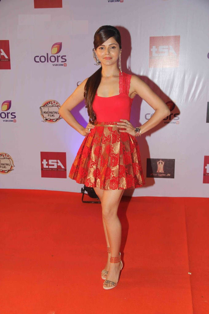 Rubina Dilaik Hot Images In Short Clothes At Event