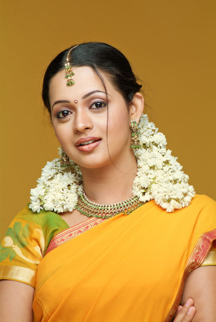 Bhavana Cute Images In Saree