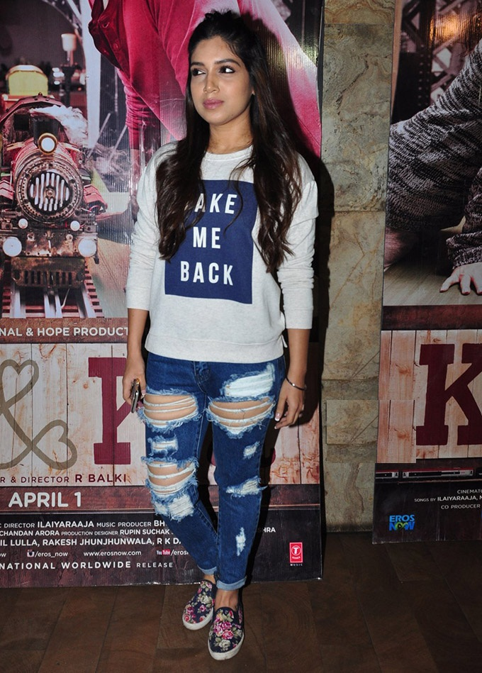 Bhumi Pednekar Bold Images In Jeans Top