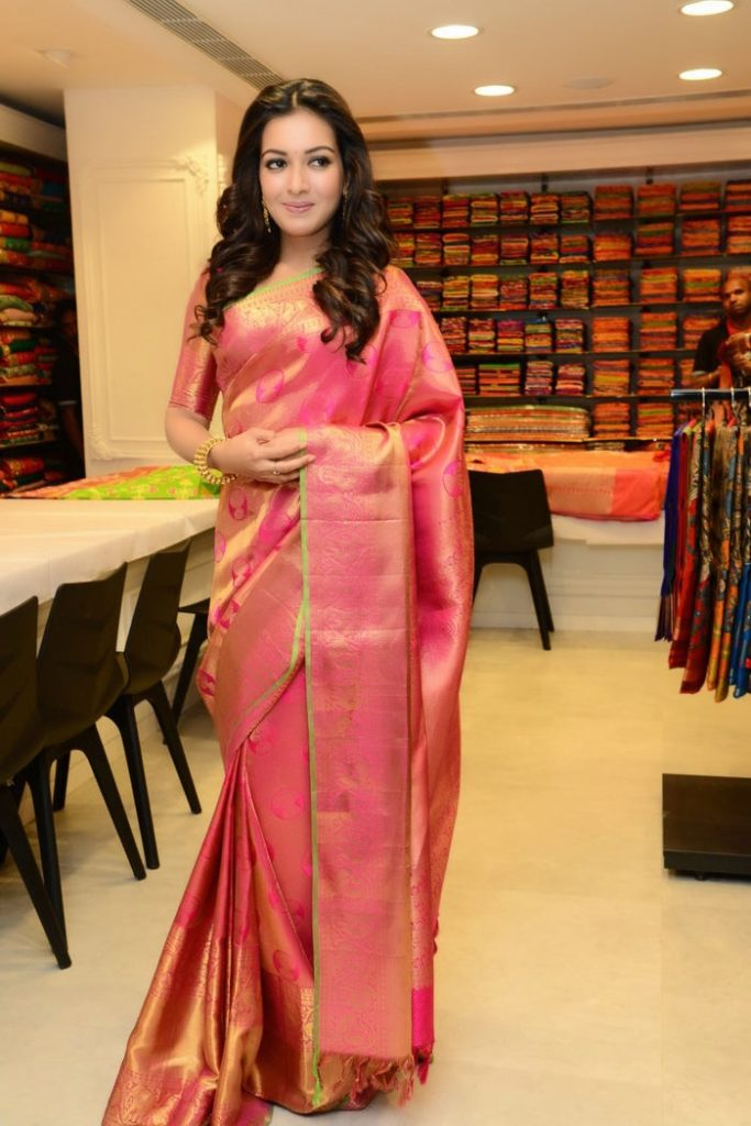 Catherine Tresa Charming Pics In Saree