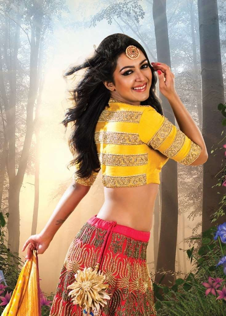 Catherine Tresa Pics In Gagra Choli For Desktop