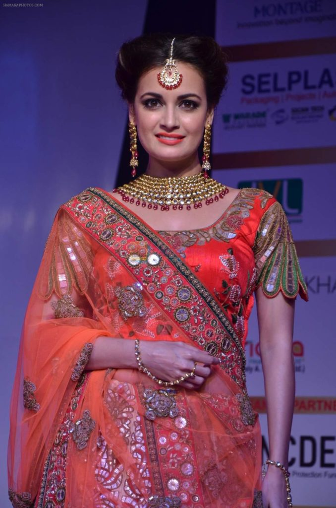 Dia Mirza HD Pics At Rampwalk