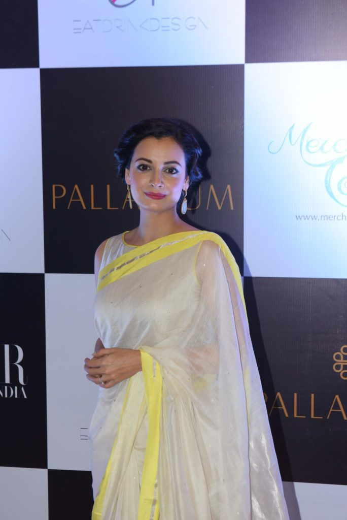 Dia Mirza Hot Images in Saree
