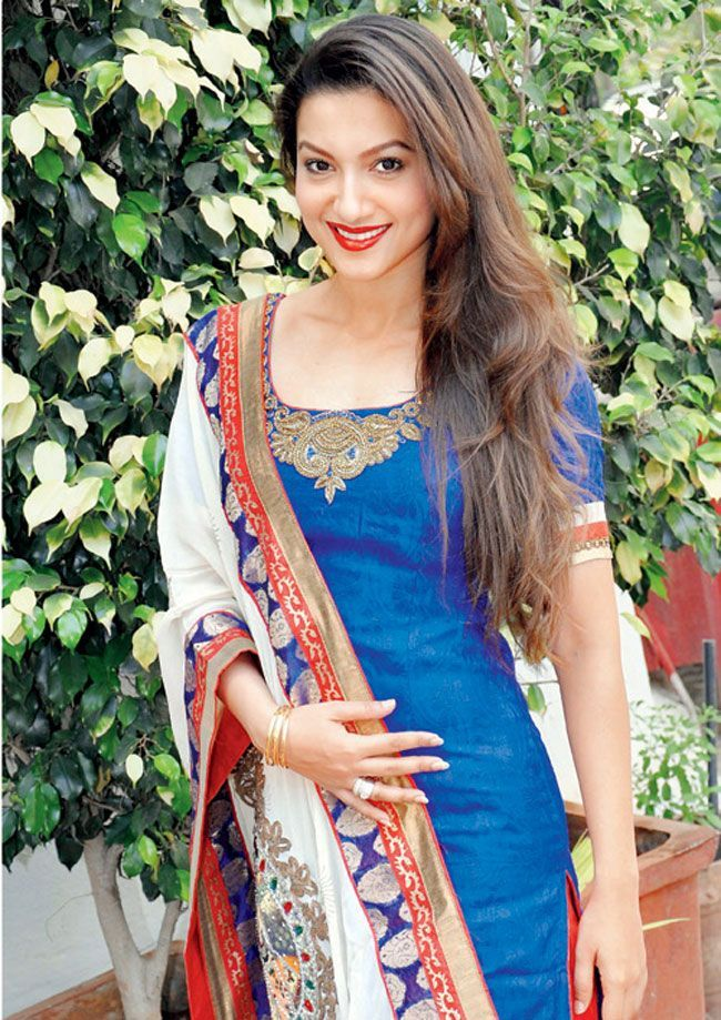 Gauhar Khan Cute Smile Photos