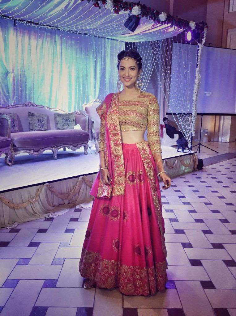 Gauhar Khan Images In Gagra Choli