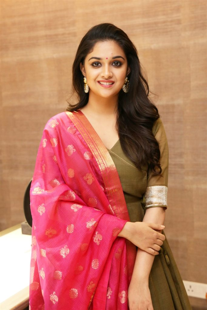 Keerthy Suresh Hot Images In Saree