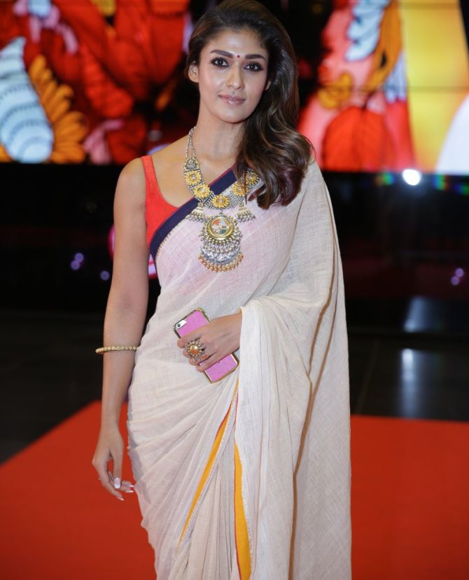Nayantara Hot Images In Saree