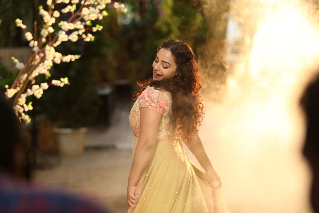 Nithya Menon Hot Pics In Backless Clothes