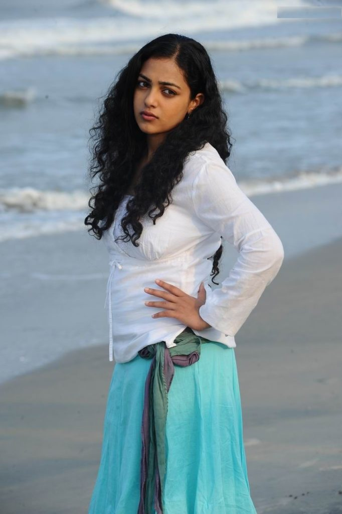 Nithya Menon Hot Pics On The Beach