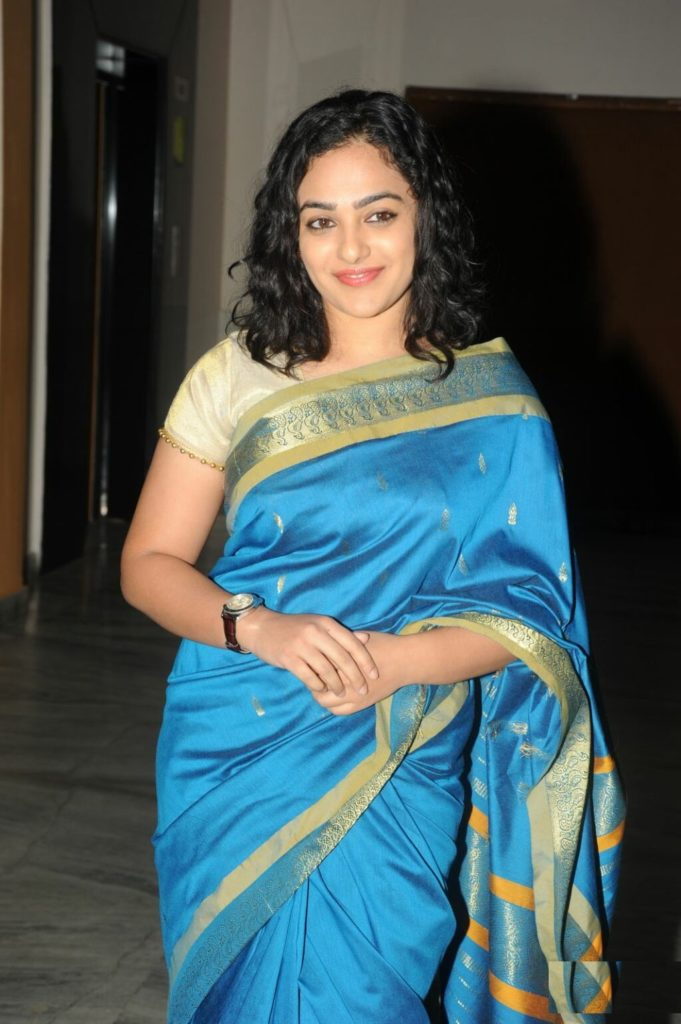 Nithya Menon Latest & New Images In Saree
