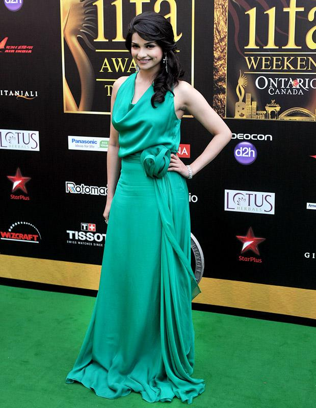 Prachi Desai Beautiful Look In Green Color Cloths Photos