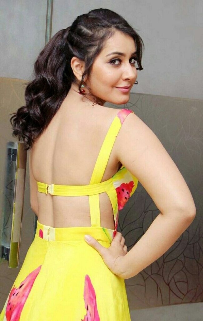Rashi Khanna Hot Images In Backless Clothes