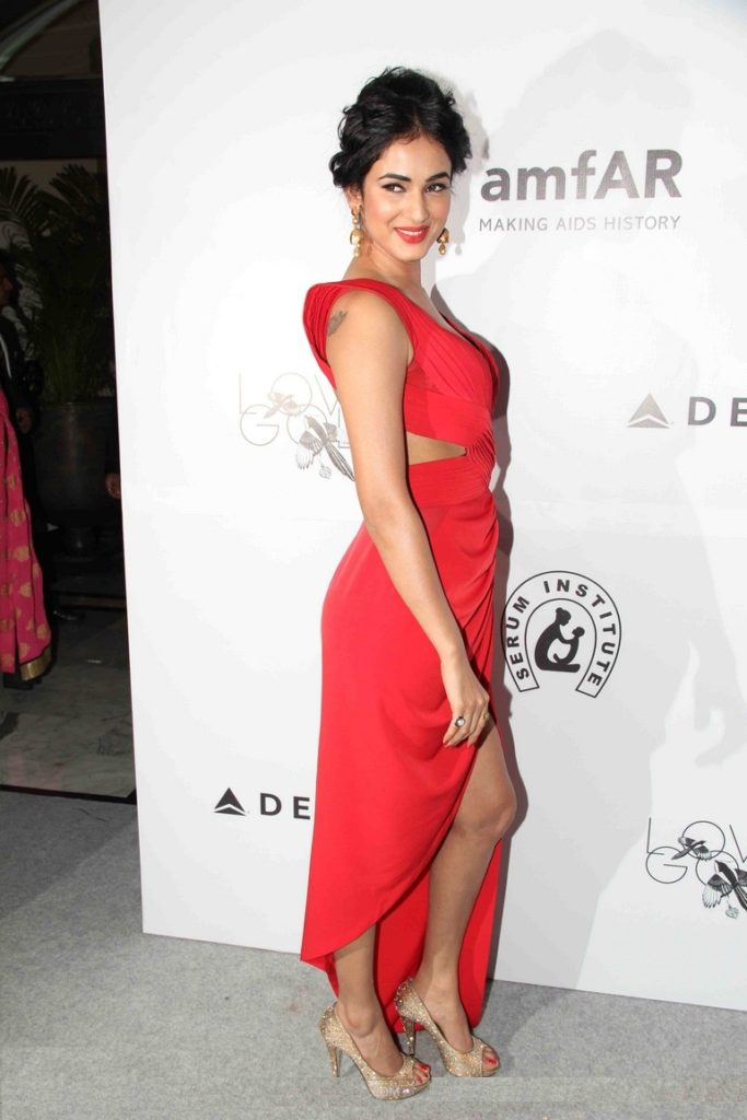 Sonal Chauhan Beautiful Look In Red Color Cloths Images Photos