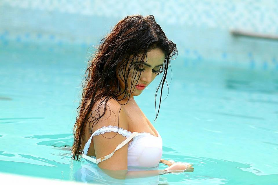 Sony Charishta Hot Images In Swiming Pool