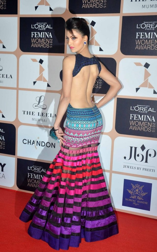 Urvashi Rautela Hot Pictures In Back Less Cloths