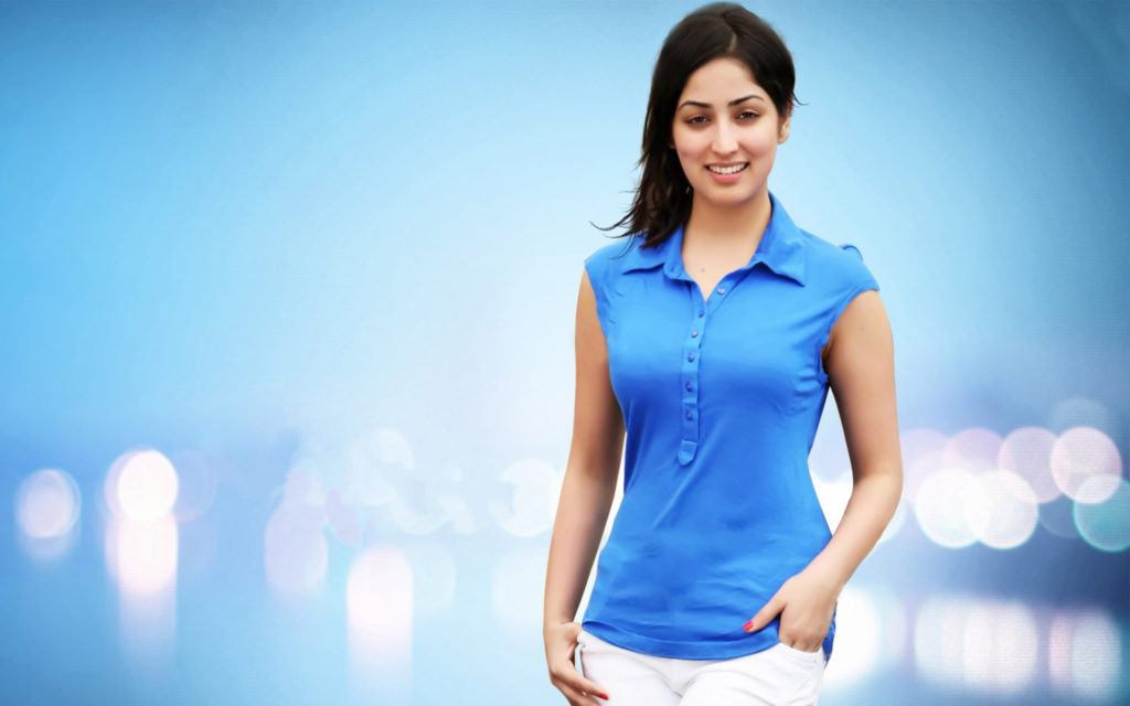 Yami Gautam Hot Looking In Blue Cloths