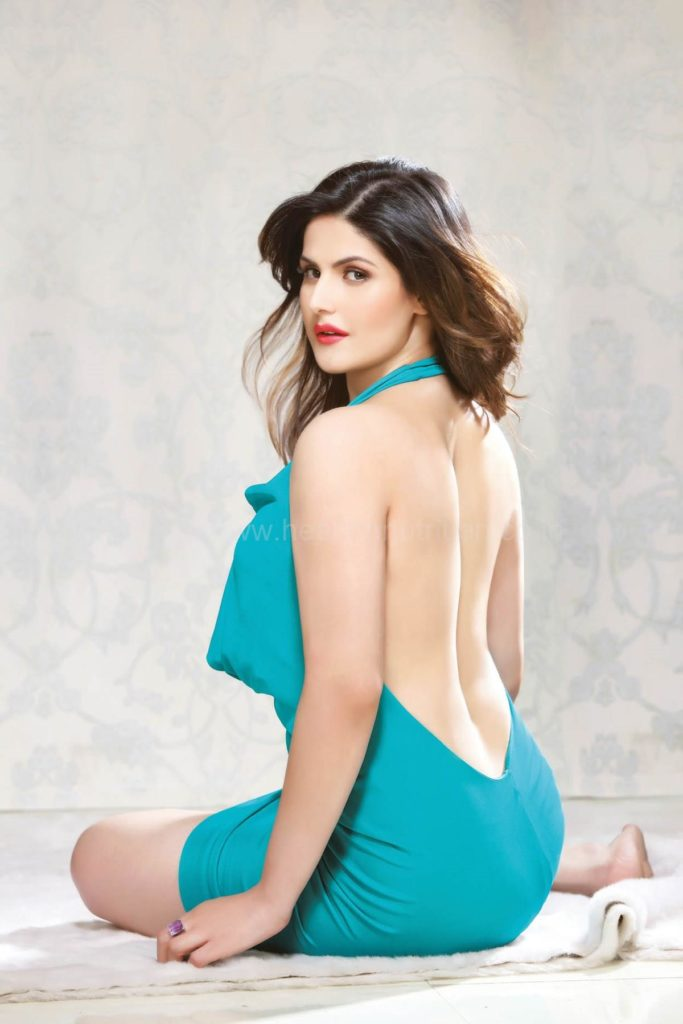 Zarine Khan Hot Pictures In Back Less Cloths