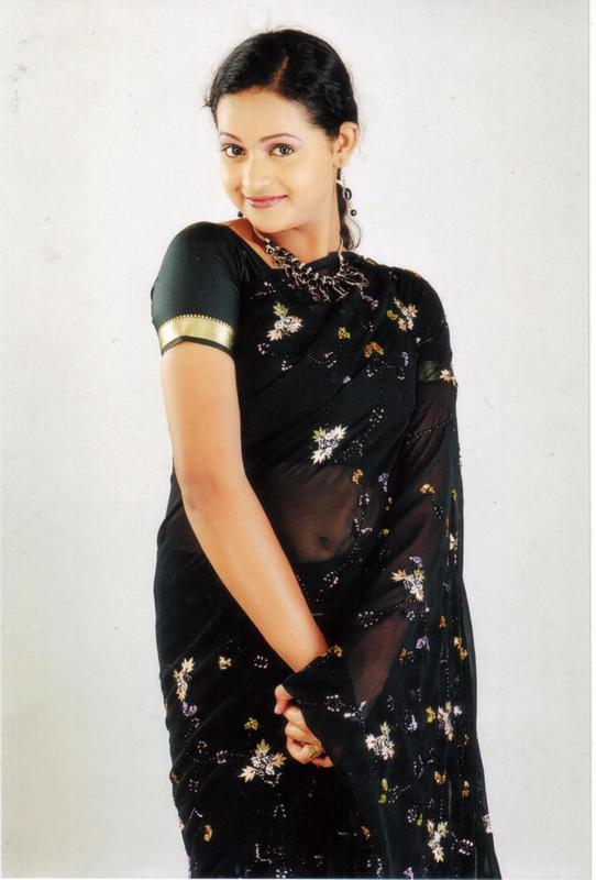 Bhavana Hot In Black Saree Photos
