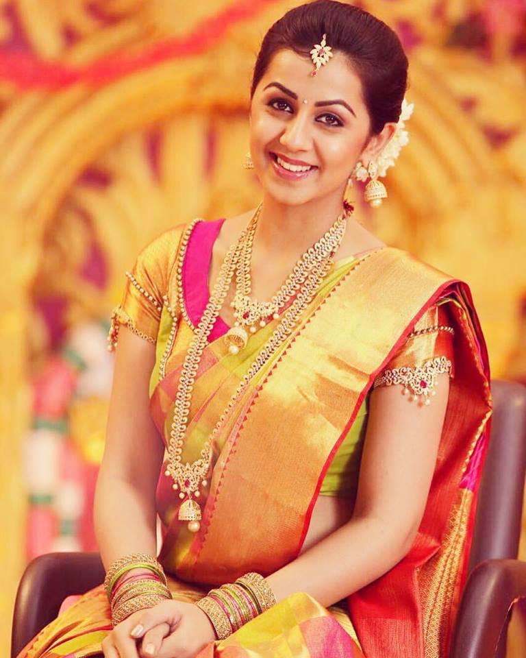 Nikki Galrani In Saree Hot Photos