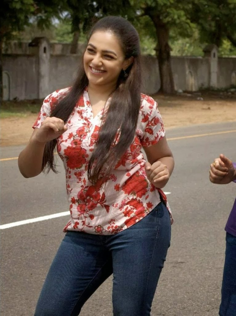 Nithya Menon In Jeans Top Boobs Pictures